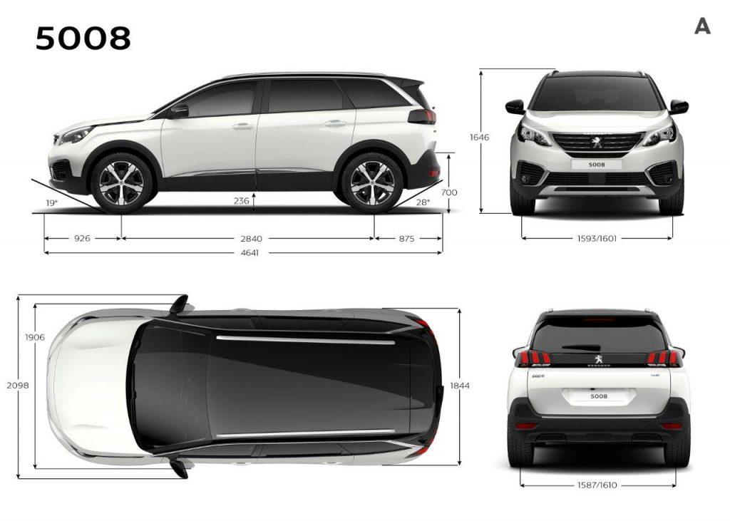 Nuevo Peugeto 5008 SUV dimensiones