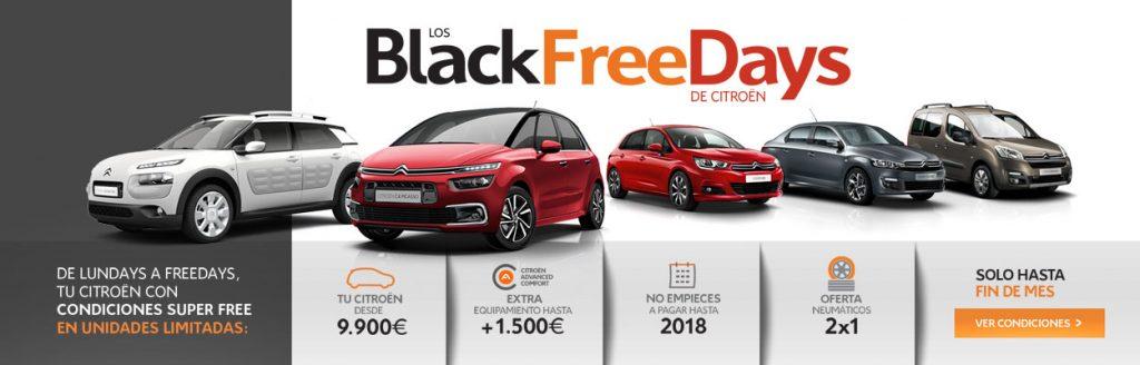 promoción Black Free Days Citroën