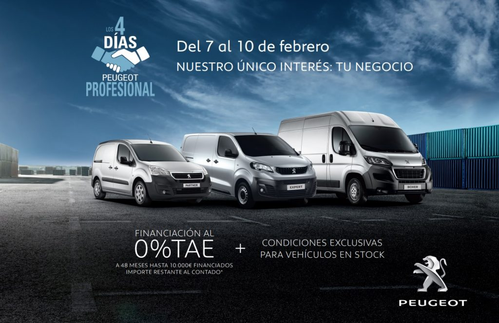 4 Días Peugeot Profesional: furgonetas